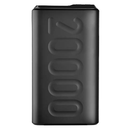 Ambrane 20000mAh Power Bank with 18W Fast Charging, Triple Output, Power Delivery, Type C Input, Made in India, Multi-Layer Protection, Li-Polymer + Type C Cable (Stylo-20k, Black)