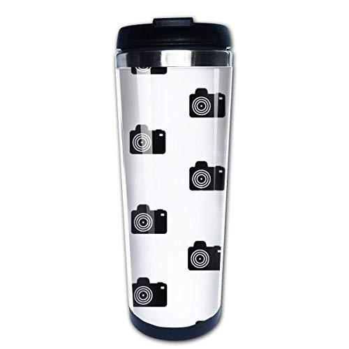 Taza de café de viaje Cámara Vector Taza de café con aislamiento de acero inoxidable Botella de agua deportiva 13.5 Oz (400 ml) MUG-3795