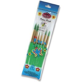 Royal Brush Bulk Buy (3-Pack) Big Kid's Choice Round Brush Set 6 Pack BK606