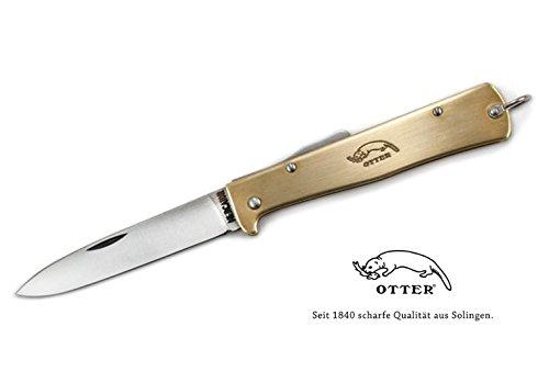 Otter MERCATOR Messer Messing 10-726RG Carbonstahlklinge