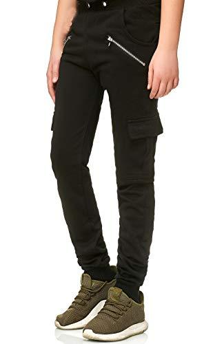 XRebel Kinder Junge Jogging Hose Jogger Streetwear Sporthose Modell W18 (Schwarz, Gr.14(152~158))