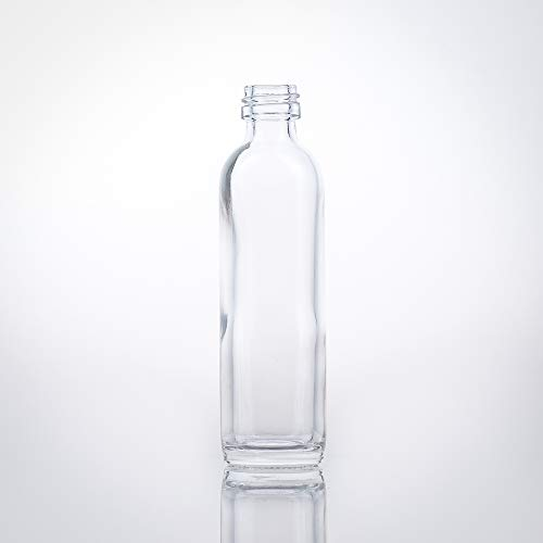 24 Leere Mini Glasflaschen 40 ml (0,04l) - Hochwertige Schraubverschluss Flaschen Gold PP18, Metall - Kleine Glasflaschen zum Befüllen – ideal verwendbar als kleine Schnapsflaschen (24)