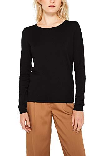 edc by ESPRIT Damen 999Cc1I802 Pullover, Schwarz (Black 001), Medium (Herstellergröße: M)