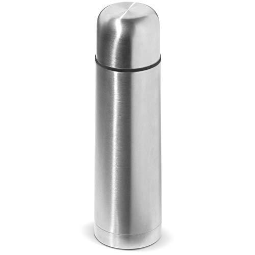 THE STEEL BOTTLE -Thermos in Acciaio Rinforzato, capacità 500 ml, Chiusura Ermetica, Borraccia Portatile (Thermos Argento)