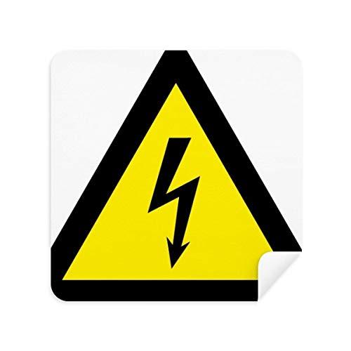 DIYthinker Símbolo de Aviso Negro Amarillo Descarga eléctrica Triángulo de los vidrios...