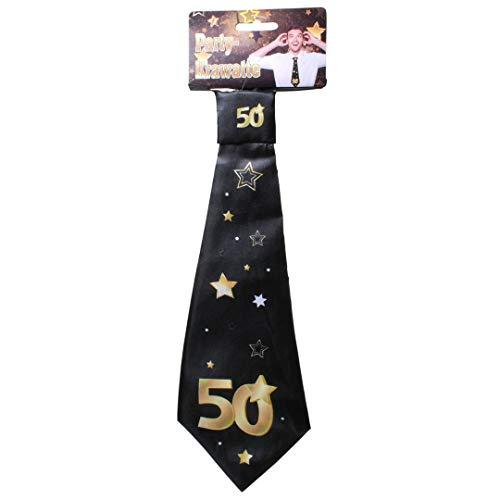 Udo Schmidt GmbH & Co Party-Krawatte mit Einer großen 50