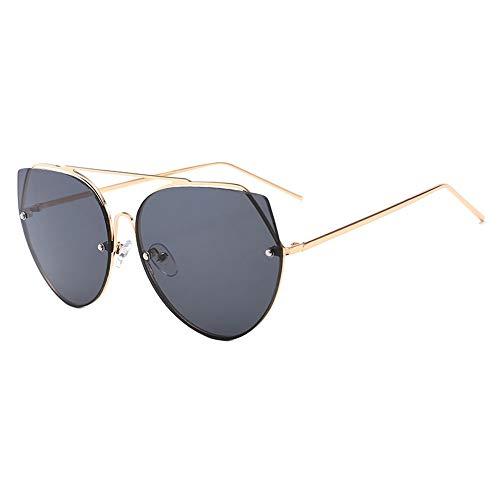 XFSE Gafas de sol UV400 Black Frog Mirror Metal para hombre Street Shot Retro Gafas de sol