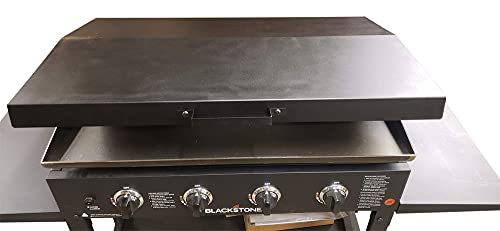 Backyard Life Gear Hinged Lid for 36 inch Blackstone Griddle with Rear Grease Collection - Black