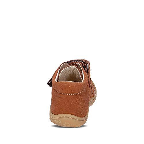 RICOSTA Pepino Unisex - Kinder Stiefel Chrisy, WMS: Weit, Leder Kind-er Kids junior Kleinkind-er Kinder-Schuhe Klett-Schuhe,Curry,23 EU / 6 UK
