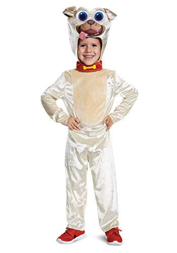Disguise Disney Junior Rolly Puppy Dog Pals Toddler Boys' Costume Brown Medium/(3T-4T)