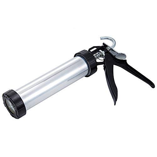 9 Zoll Dicke Aluminiumzylinder Glas Klebepistole Beruf Handheld Kartuschenpistole Silikon Struktur Klebepistole Für Heimwerker