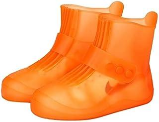 LYYCEU De Manera integrada PVC Cubierta Impermeable de Zapatos Antideslizante con Espesado Soles Tamaño: 36-37 (Negro) Q (...