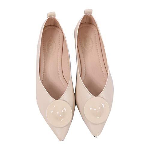 Mode Femmes Ballet Flats Bouche Peu Profonde Slip on Mocassins Printemps Été Bout Pointu Robe Chaussures Casual Respirant Bateau Chaussures