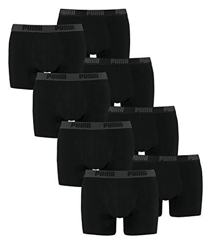 Puma BasicLot de 8 boxers basiques pour hommes Nombreuses couleurs, Puma Boxer Short,Noir,XL