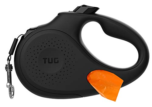 TUG Oval 360° Tangle-Free Retractable Dog Leash with Integrated Waste Bag Dispenser