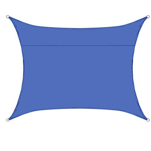 JX-PEP 3m x 4m rectángulo Shade Vela al Aire Libre jardín Patio Impermeable Sombra Vela toldo 98% Bloque UV con Cuerda Libre,#5