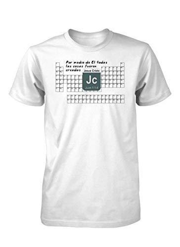 Partner & Anzu Tabla-Periodica-Elementos-Quimica-Ciencia-Creacion-Camiseta-Cristiana White