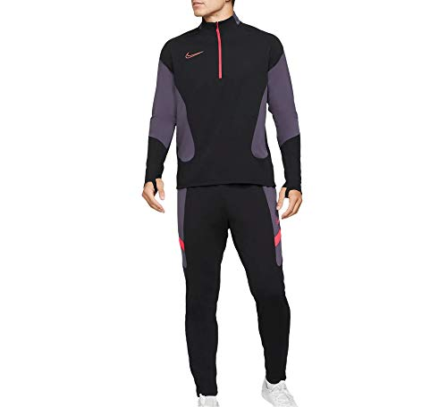Nike M NK Dry ACDMY FTBL Suit K MX Tuta da Ginnastica, Black/Black/White/(White), M Uomo