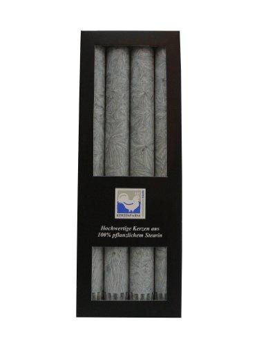 Stearin Stabkerzen, 250 x 22 mm, Grau, 4er-Pack, Bio - Kerzen / Stearin - Leuchterkerzen