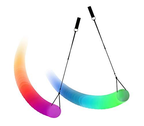 PRECORN LED Poi 2 Stck mehrfarbiger Nachtleuchtender Poi Leuchtpoi für Spinnen Schwingen Bauchtanz