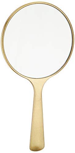 箔一 ミラー ゴールド 105×210×8mm 桜に流水 箔姫手鏡 A185-02010