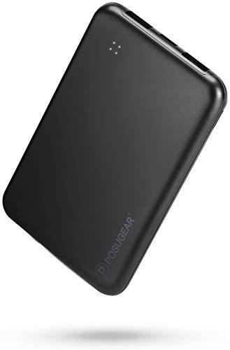 POSUGEAR PowerBank 10000mAh, Caricatore Portatile ad Alta capacità 2A 2 Porte con 4 luci a LED, Compatibile con iPhone, Samsung, Huawei, iPad ECC.…