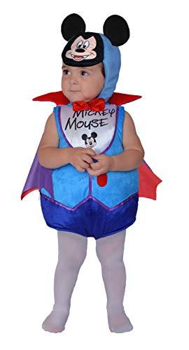Ciao 11251.6-12 Disfraz de Mickey Mouse de vampiretto con capa impresa y gorro de oreja para nios unisex, multicolor, 6-12 meses