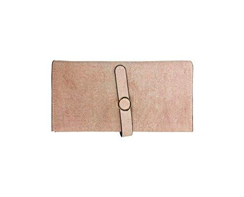 Emartbuy Donne Portafogli, Portamonete, Frizione, In Camoscio Finto, Decorata Con Anello In Oro - Baby Pink