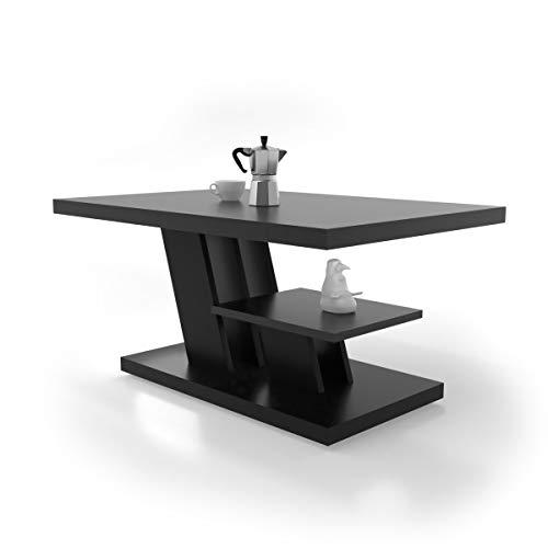 CYNTIA - Mesa de Centro - Mesa Centro - Mesa Comedor 90x60x45cm - Mesa de café - mesita Salon con un Estante - Muebles Salon Elegante - Mesa Salon - Moderno y Elegante (Negro)