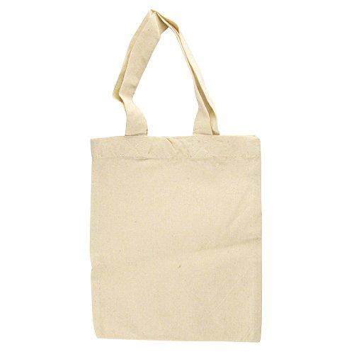 Rayher 3822600 Baumwoll-Tasche, unbedruckt, beige, 25x21 cm