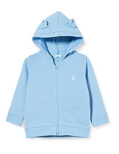 United Colors of Benetton Baby-Jungen Felpa Zip Strickjacke, Blau (Dusk Blue 29j), 56 (Herstellergröße: 62)