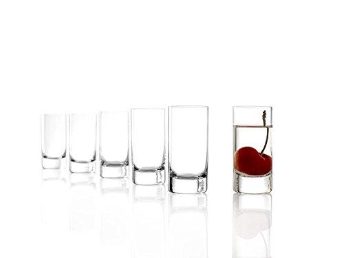 Stölzle Lausitz New York Bar Schnapsgläser, 57ml, 6er Set Stamper, spülmaschinenfest, bleifreies Kristallglas, hochwertige Qualität