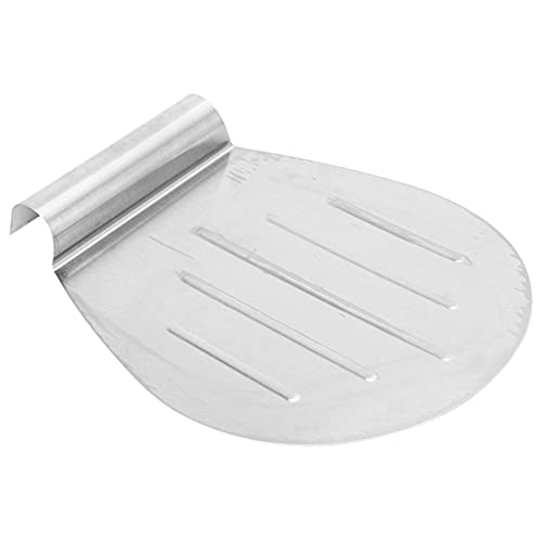 Pizza Tray Stainless Steel Pizza Cake Transfer Tray Shovel Spatula Kitchen Baking Tool It Is An Deal Tool For Transferring Finished Cake, Pizza Peel (Color : Silver)