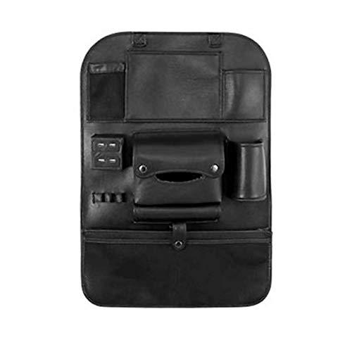 Neborn autostoel rugzak organizer 4 USB oplaadapparaat telefoon opslag PU leder reizen multifunctionele tas opbergen auto accessoires zwart