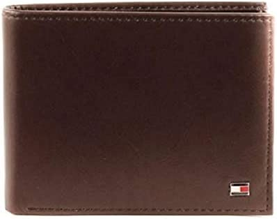 Tommy Hilfiger Men's Eton Mesh Flap Wallet, Brown, One