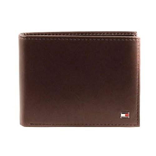 Tommy Hilfiger Eton Cc Flap And Coin Pocket Porta carte di credito, 75 cm, Marrone