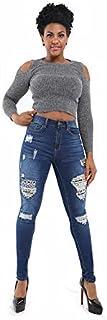 Pantaloni da donna Leggings Casual Strappato Jeans Stretch Stretch Skinny Denim Pantaloni