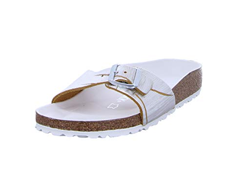 BIRKENSTOCK Damen Pantoletten Madrid NU Metallic Cuts Lemon 1012960 gelb 666626