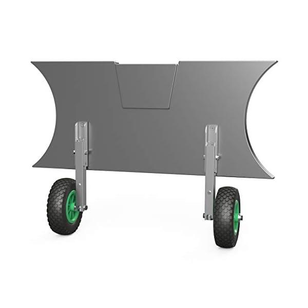 Ruedas de botadura SUPROD HD200, acero inoxidable A4 (C (negro/verde)) 2