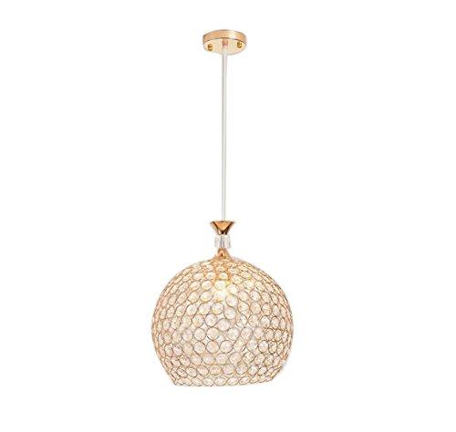 lampadario camera da letto oro TRADE® Luce pendente D'oro Globo Lampadario con K9 Crystal Regolabile Cordone Sala da Pranzo Illuminazione