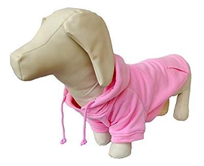 Lovelonglong 2020 New Pet Clothing Clothes Dog Coat Hoodies Winter Autumn Sweatshirt For Sausage Corgi Size Dogs 11 Colors 100% Cotton Pink D-L