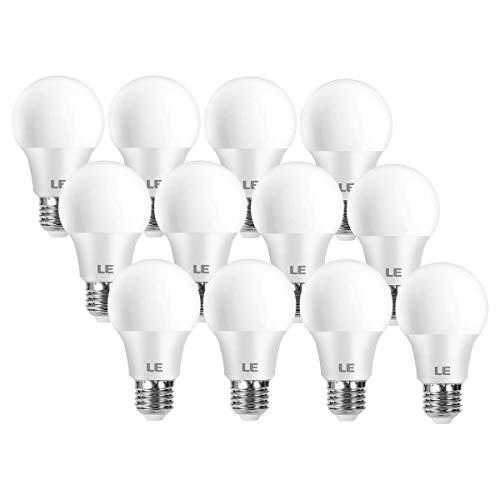LE Bombilla LED E27, Lámpara LED de 8 W y 806 lúmenes, Reemplaza la Bombilla de 60 W, Bombillas E27 LED Blanco Cálido 2700 K, lámpara de Ahorro de energía de Haz de 180°, Paquete de 12
