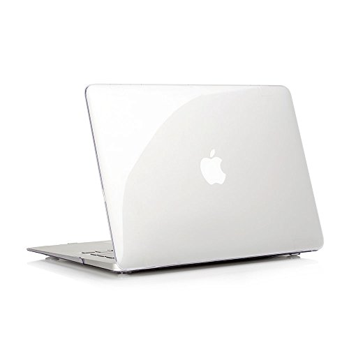 RUBAN MacBook Air 13 inch Case (Models: A1369 & A1466, Older Version 2010-2017 Release), Slim Snap On Hard Shell Protective Cover,Crystal Clear