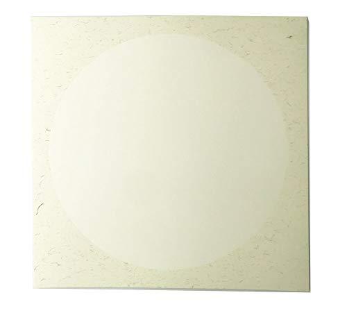 Easyou Xuan-Papier für Sumi chinesische Malerei und Kalligraphie, vormontiert, 38 x 38 cm, Arbeitsplatz: weißes, rohes Xuan-Papier