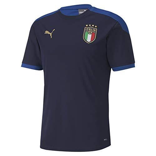 PUMA FIGC Training Jersey, Maglietta Uomo, Blu (Peacoat/Team Power Blue), L