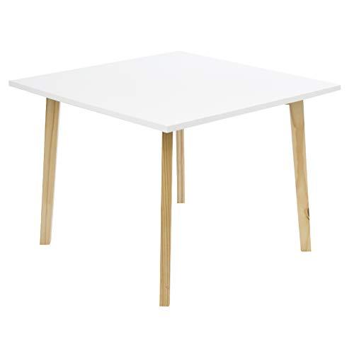 Limal Beistelltisch eckig Holztisch Nachttisch Ablage Couchtisch Telefontisch weiß braun