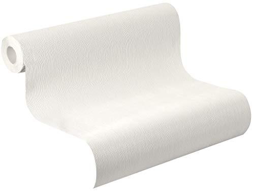 Vlies Tapete Rasch home style weiß silber grau streifen floral Putz Struktur (weiß 415766)