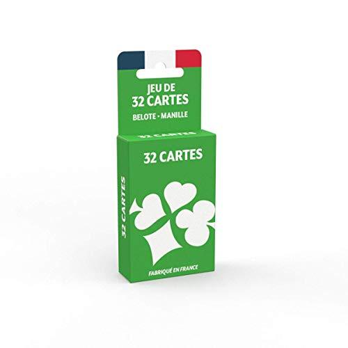 Jeu de 32 Cartes - Fabriqué en France - Jeu de belote, Manille, Poker Menteur