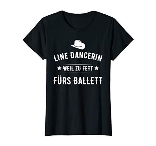 Damen Linedance T-Shirt Spruch Geschenk - Linedancerin