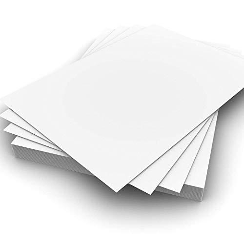 ARK - Tarjeta para impresora (tamaño A4, 300 g/m², 50 hojas), color blanco